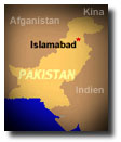 Map with Islamabad